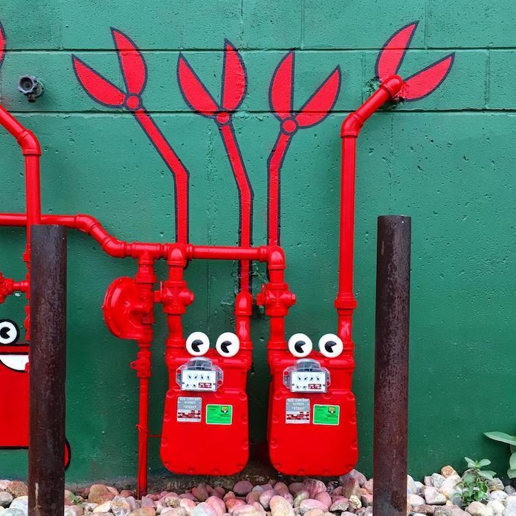 Street art by Tom Bob